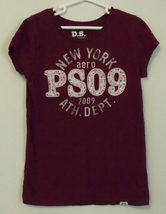 Girls ps aeropostale burgundy cap sleeve top m 10 thumb200