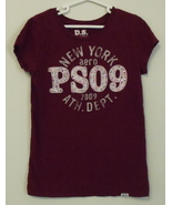 Girls P S Aeropostale Burgundy Cap Sleeve Top S... - $8.00
