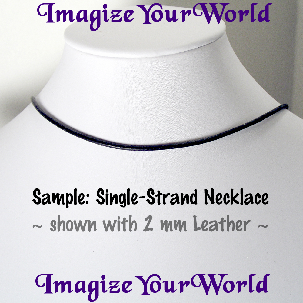 BLACK 1.5 mm LEATHER Cord Necklace - Custom