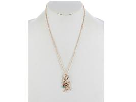 Metal Reindeer PendantChristmas Necklace - $13.95