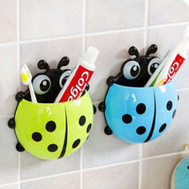 Bathroom Ladybug Toothbrush Holder Suction Ladybird Toothpaste Wall Sucker - $4.00