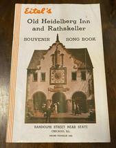 Eitel's Old Heidelberg Inn 1938 Souvenir Song Book Chicago Blatz Beer Ad  - $14.69