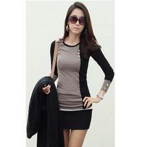 new fashion women clothing t shirt korean style punk sexy tops tee clothes Long