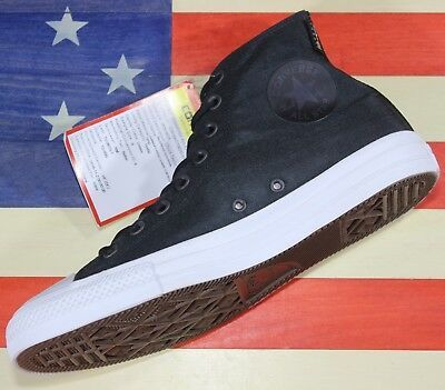 CONVERSE SAMPLE Chuck Taylor ALL-STAR HI Cordura Black White Shoe [157516C] sz 9