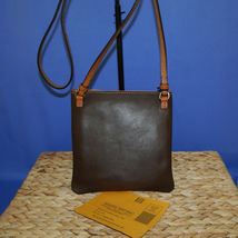 Dooney & Bourke Triple Zip Calf Leather Crossody NWT Brown image 4