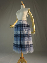 Gray Midi Tulle Skirt Tiered Tutu Skirt Ballerina Tulle Skirt image 2