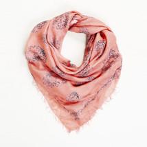 Alexander McQueen Pink Silk Skull Scarf - $200.00
