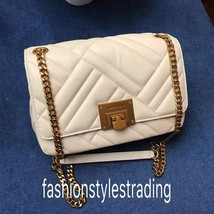 NWT Michael Kors vivianne Quilted Leather Medium Shoulder Flap Bag Chain... - $159.99
