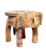 Wooden With Stone Home Decor Stool Elephant Shape Decorativ Baby Sitter ... - $52.99