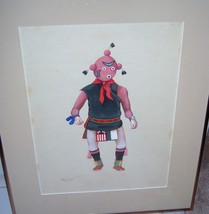 "Leroy Kewanyama HOPI Original Gouache Watercolor Painting Art 1963 15""X19"" - $794.99"