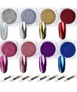 Nail Powder Wenida 8 Colors 1G/Jar Premium Mirror Laser Synthetic Resin ... - $18.80