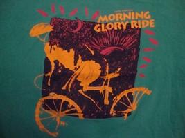 Vintage 12th Annual Morning Glory Ride Souvenir Green T Shirt Size L - $12.86