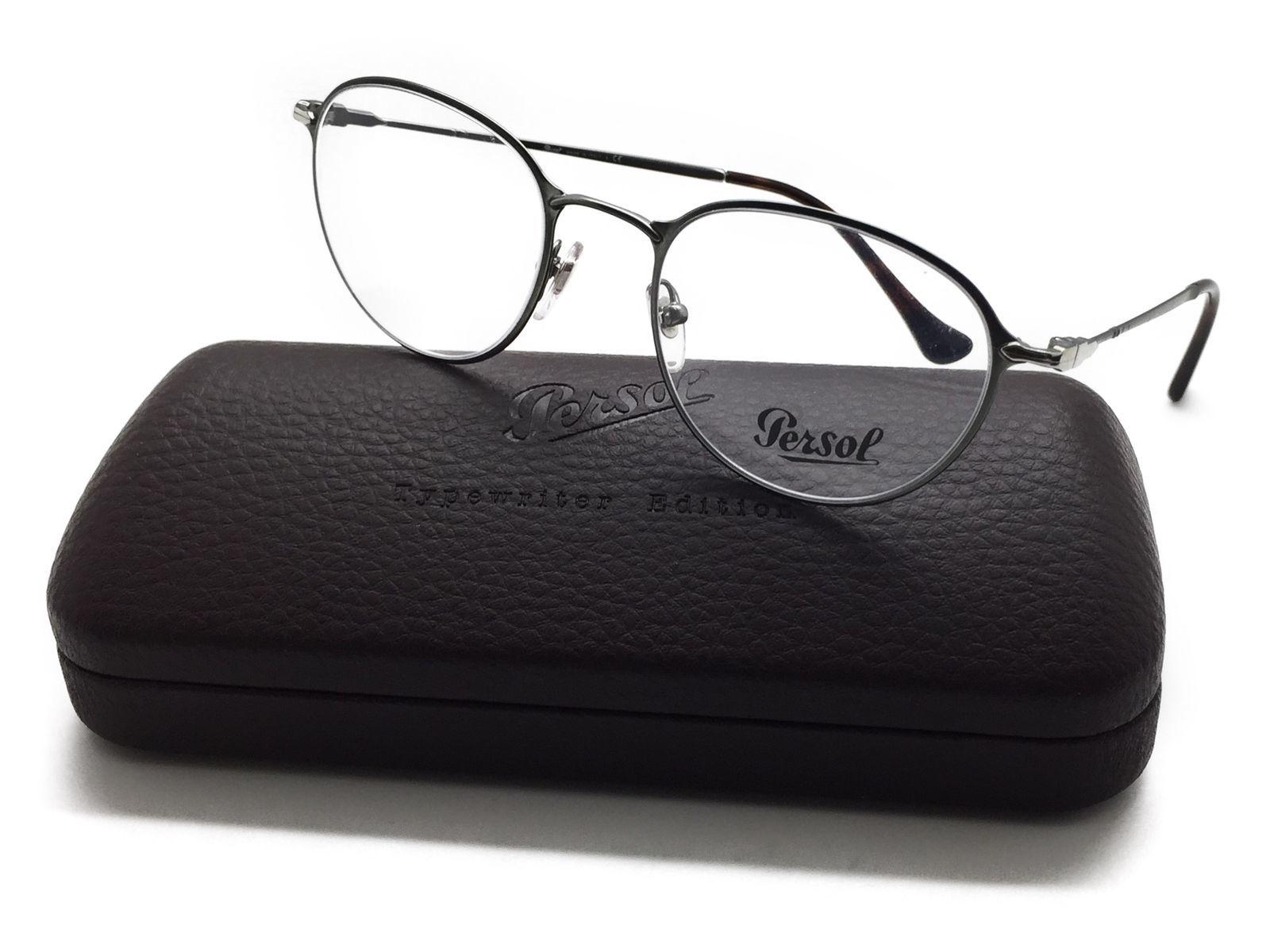 577f3ab04a5a6 Persol Round Metal GUNMETAL Eyeglasses PO 2426 V 1052 50MM -  99.97