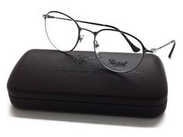 Persol Round Metal GUNMETAL Eyeglasses PO 2426 V 1052 50MM - $99.97