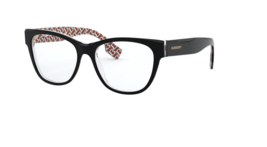 Burberry Eyeglass Frames BE 2301 3822 Black/Print Tb Red Women  53mm - $376.20