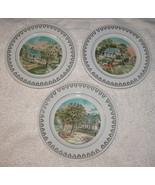 Set di 3 Roy Thomas Piatti The Four Seasons Currier & Ives Molla, Estate... - $18.78