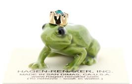 Hagen-Renaker Miniature Ceramic Frog Figurine Birthstone Prince 05 May image 1