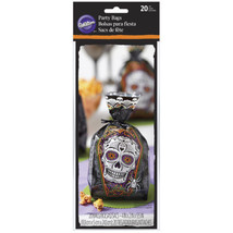 Wilton Deadly Soiree Treat Bags 20 Ct Day of the Dead Halloween - $4.05 CAD