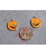 Jack-o-lantern Halloween French Hook Dangly Earrings - $3.99