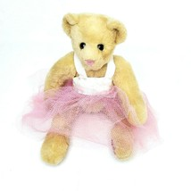 "Vermont Teddy Bear Company Ballerina Bear in Pink Tutu 14"" Bendable Plush - $24.98"
