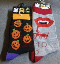 2 pr. Vampire Jack-o-lantern Halloween Ladies Socks - $5.99