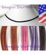 3 mm SUEDE Lace Necklace CUSTOM-24 inches Red/Purple/Pink valentine - $4.50