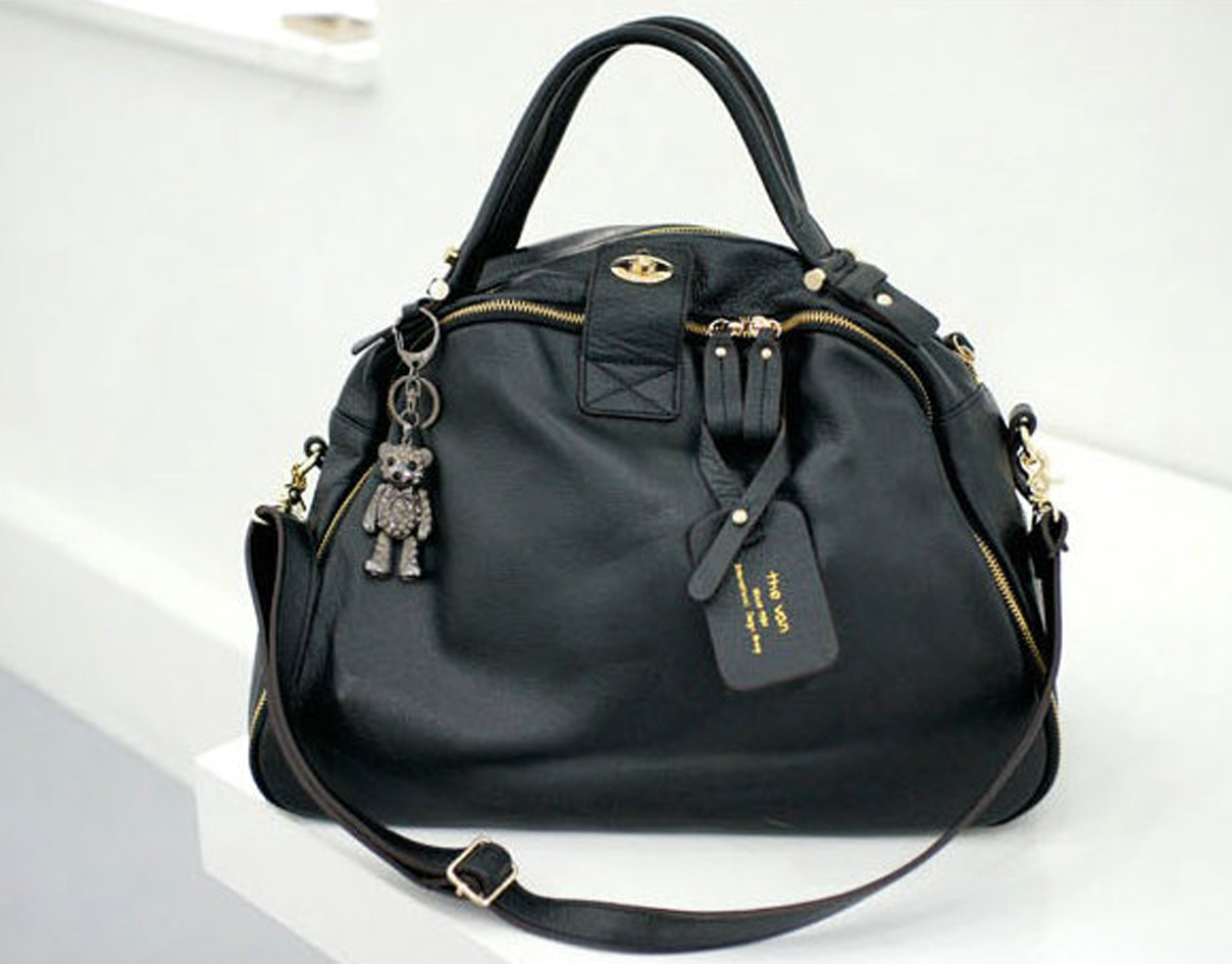 Leather_bag_korean_tote_black