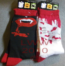 2 pr. Bloody Vampire Halloween Ladies Socks size 9-11 - $5.99