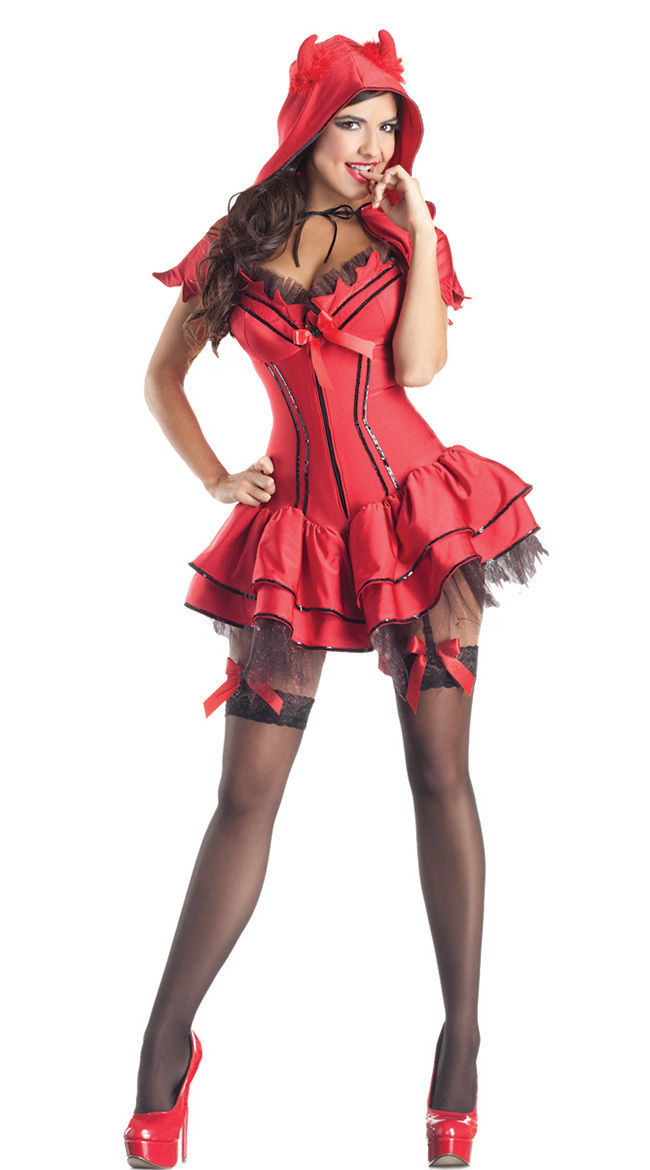 Party King Hellfire Darling Devil Costume