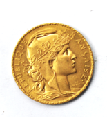 1908 France 20 Francs Gold Twenty Rooster Uncirculated Coin KM# 857 - €307,99 EUR