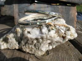 Abalone Bangle bracelets Mexico sterling silver... - $99.00