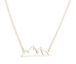 Origami Snow Mountain Necklaces & Pendants Mountain Range Pendant Necklace image 4