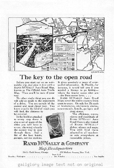 1925 Rand McNally & Co Maps 2 Vintage Print Ads