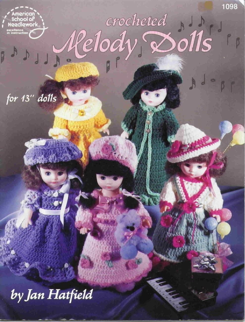 American school of needlework melody dolls crochet
