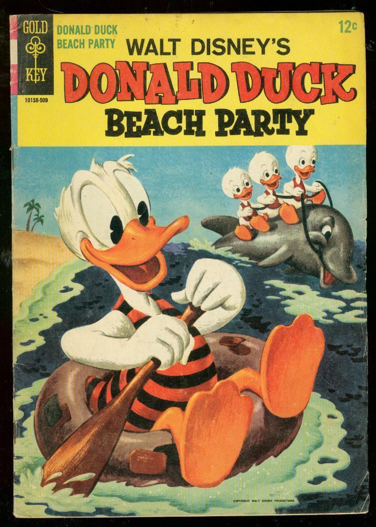 Primary image for DONALD DUCK BEACH PARTY #1 1965-GOLD KEY COMICS BARKS VG