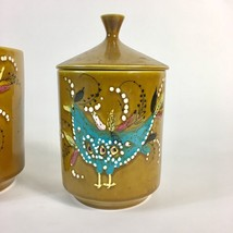Mid Century Glazed Canisters Abstract Partridge... - $279.22