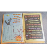 2 Happy Halloween Greeting Cards Dracula Black Cat - $2.25