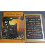 2 Halloween Greeting Cards Dracula Black Cat & envelopes - $2.25