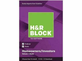 H&R Block Tax Software Deluxe + State 2018 PC/MAC CD - $11.63