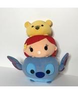 Disney Tsum Tsum Stacked Plush Stitch Ariel Little Mermaid Winnie the Po... - $28.59