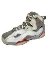 Jordan youth kids shoes sneakers true flight leather white gray hi top s... - $36.30