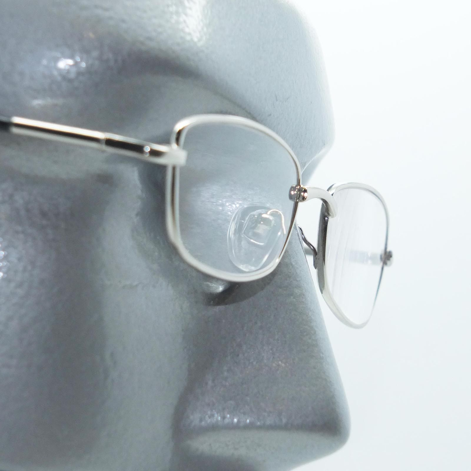 Primary image for Reading Glasses Low Profile Silver Frame Lightweight Spring Temples +3.00 Lens