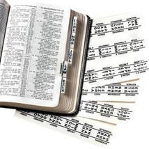 Large Print King James Bible Tabs - Set Of 71 - $6.49