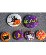 6 New Witchy Cauldron Halloween Lapel Button Pins - $5.99