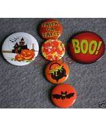 6 New Witchy Spooky Halloween Lapel Button Pins - $5.99
