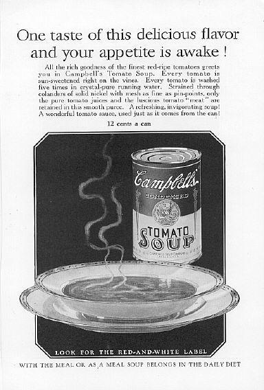 1926 Campbell's Soup 2 Vintage Print Ads 12 Cents A Can
