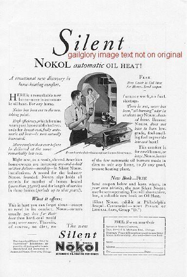 1926 Capitol, Nokol, Oilmatic 3 Vintage Oil Heat Ads