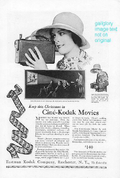 1926 Gillette & Kodak Movies 2  Vintage Print Ads