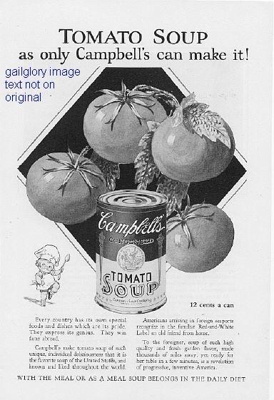 1928 Campbell's Soup 2 Vintage Magazine Print Ads