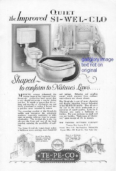 1928 Corbin Hardware TE-PE-CO Fixtures 2 Vintage Ads